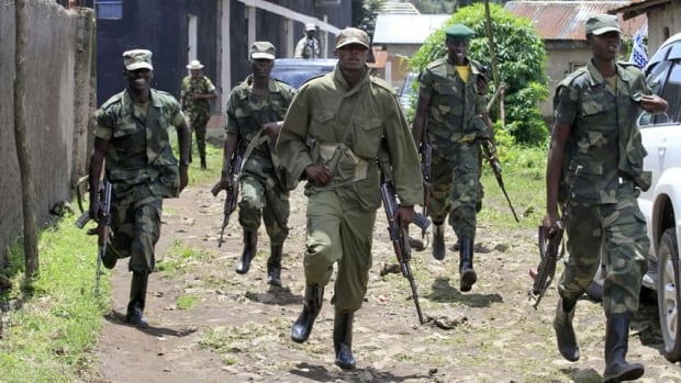Congolese rebels from the group M23, seen last month in the town of Bunagana, are close to entering the nearby city of Goma. Civil strife in eastern Congo has cost millions of lives over the last 15 years.