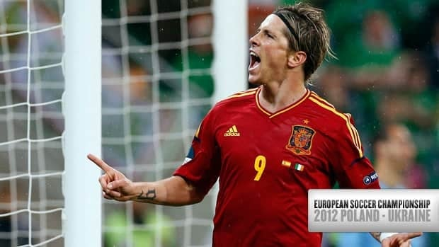 Forward Fernando Torres was dominant in Spain's victory over Ireland, scoring two goals on Thursday in Gdansk, Poland.