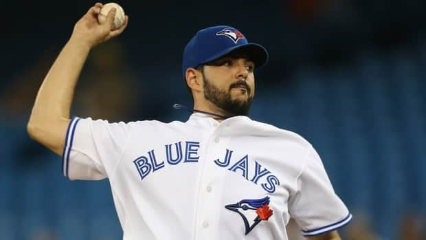 Carlos Villanueva of the Toronto Blue Jays delivers a pitch during the game against the Cleveland Indians on July 15, 2012 at Rogers Centre in Toronto.