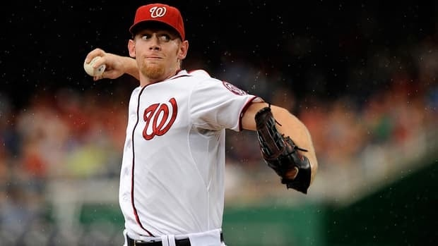 The Nationals have not announced the innings limit they've imposed on ace pitcher Stephen Strasburg in his first full season since undergoing Tommy John surgery, but manager Davey Johnson believes he has two or three starts left.