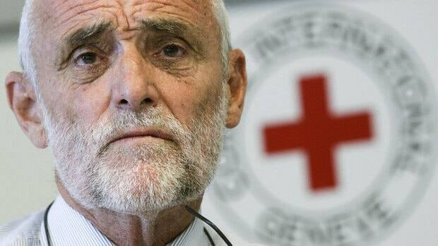 Jakob Kellenberger, president of the International Committee of the Red Cross, during a news conference in Geneva after his return from Syria on Sept. 6, 2011. The ICRC has maintained an office in Syria for 40 years and is working with the local Red Crescent society to bring aid to the victims of the current conflict. The Syrian government said it would allow the group to enter the besieged neighbourhood of Baba Amr on Tuesday.