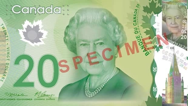 The new Canadian $20 bill, which goes into circulation Wednesday, follows on the heels of the polymer $100 and $50 bills issued over the past year.