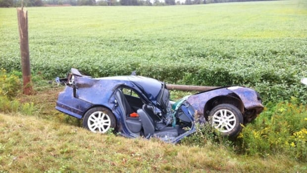 Both occupants of the car were wearing their seatbelts and survived the crash.