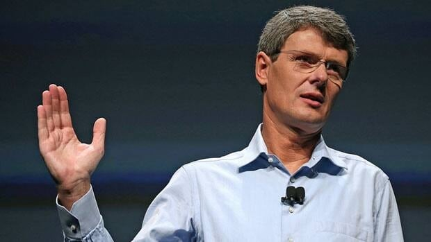 Research in Motion CEO Thorsten Heins addressed developers at a BlackBerry conference in San Jose, Calif., on Tuesday.