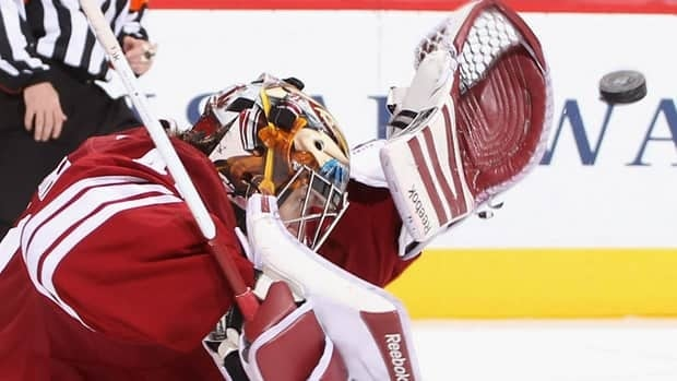 Phoenix goalie Mike Smith saved even the pucks he didn't quite keep his eyes on in a remarkable month for the Coyotes.