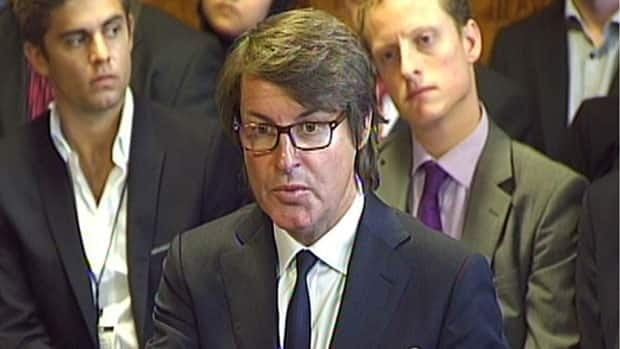G4S chief executive Nick Buckles gives evidence on Olympic security staffing to a House of Commons committee in London.