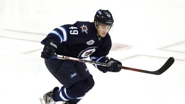 Ben Maxwell posted one goal and four assists in nine games with the Jets last season.
