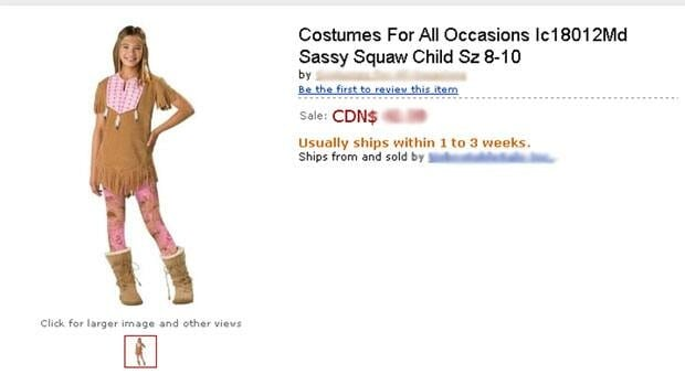 A childrens' Halloween costume called Sassy Squaw has been pulled by the manufacturer after inquiries by CBC North about the name.