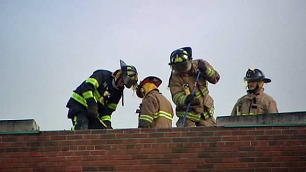 Fire officials don't have a damage estimate for a that burned the roof at Riverside high school Monday.