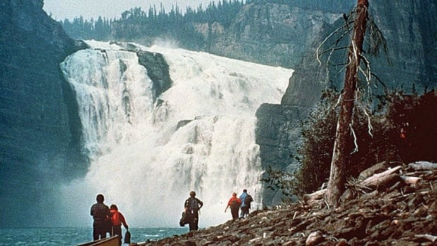 An undated photo shows the dramatic Virginia Falls on the South Nahanni River in the Nahanni National Park, Northwest Territories. The park was expanded in 2009 to help protect the river ecosystem and habitat for grizzly bears, woodland caribou and Dall sheep.