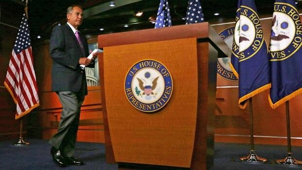 U.S. Republican Speaker of the House John Boehner, shown Friday, says he wants a 'timely and responsible' answer from the White House.