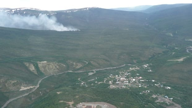Crews were watching one fire which was just 1.5 kilometres away from Keno City, Yukon.
