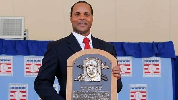 Barry Larkin spent his entire 19-year career with Cincinnati and was inducted into baseball's Hall of Fame this summer.