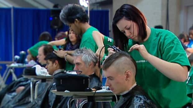 Over 400 volunteers provided hair cuts, handed out warm clothing and provided counselling during the Homeless Connect event
