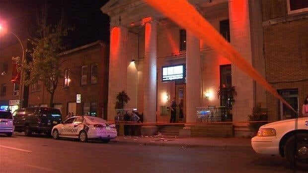 Two men are in stable condition after being found stabbed on St-Laurent Boulevard.