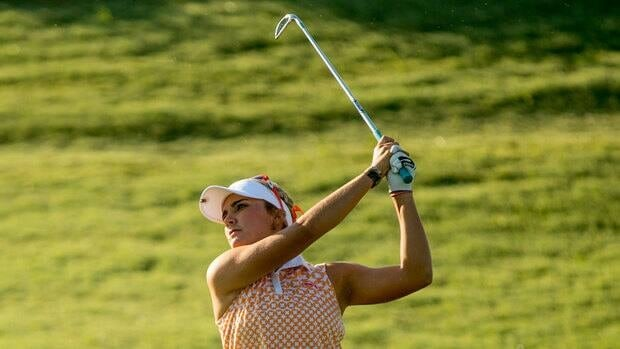 Lexi Thompson plays an approach shot at the 10th hole during the second round of the Navistar LPGA Classic on Friday.