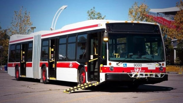 The TTC will unveil its new bendy buses for the media this morning.