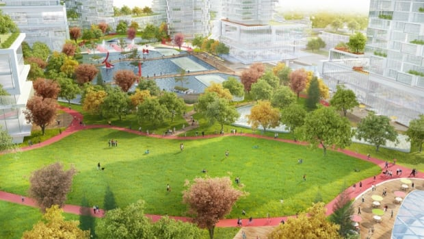 A company rendering of the new re-development.