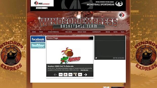 A screen grab of the Windsor Express website.