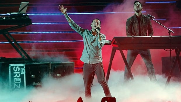 American band Linkin Park, seen performing in Japan in June, said they had only learnt about the death after the concert.