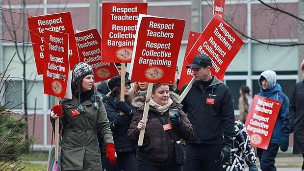Public elementary school teachers on Monday began rotating one-day strikes across Ontario.