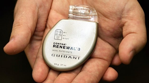 McMaster University associate professor of medicine Jeff Healey says implantable cardioverter-defibrillators, pictured here, have evolved since they were first introduced more than 30 years ago, and no longer need a potentially risky test.