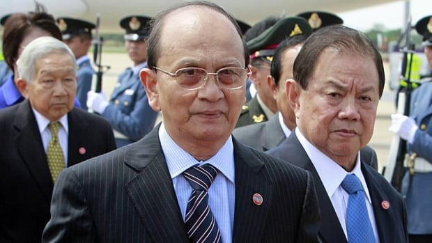The government of Burma's President Thein Sein, who is pictured here during a July 2012 visit to Thailand, says it is easing up on press censorship.