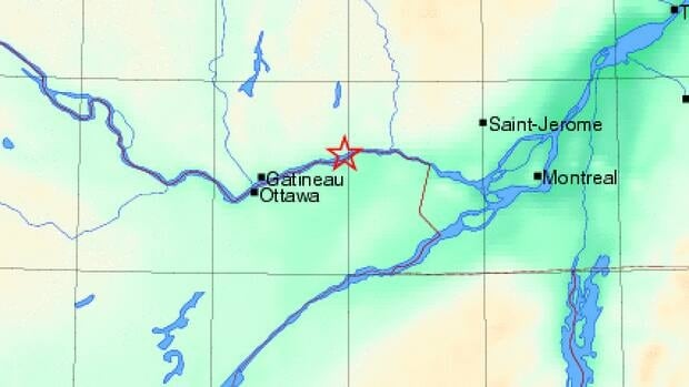 A small earthquake hit parts of Quebec early Tuesday morning.