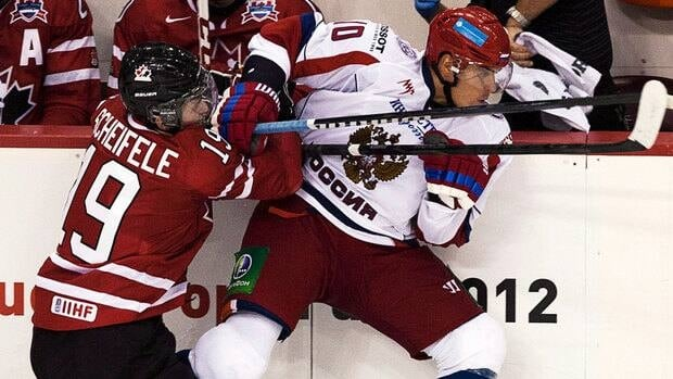 Nail Yakupov, pictured at right playing in the Canada-Russia junior hockey challenge in August, has appeared in two games for his hometown Nizhnekamsk Neftekhimik during the NHL lockout.