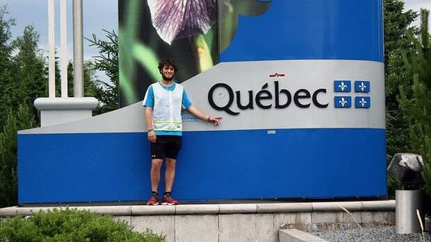 Curtis Hargrove is running across Canada to raise money for an Edmonton children's hospital.