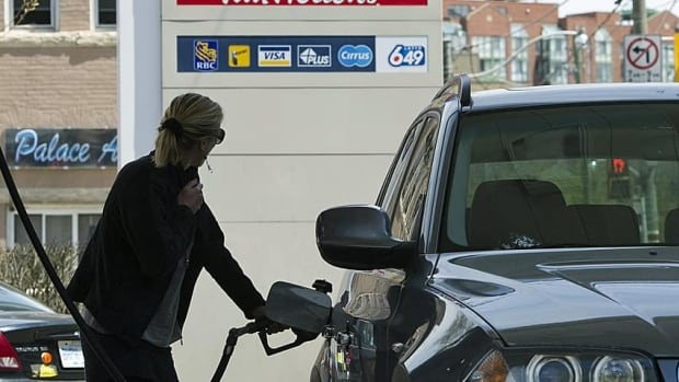 Drivers filling up in Halifax currently pay about 44.2 cents a litre in taxes. (The Canadian Press)