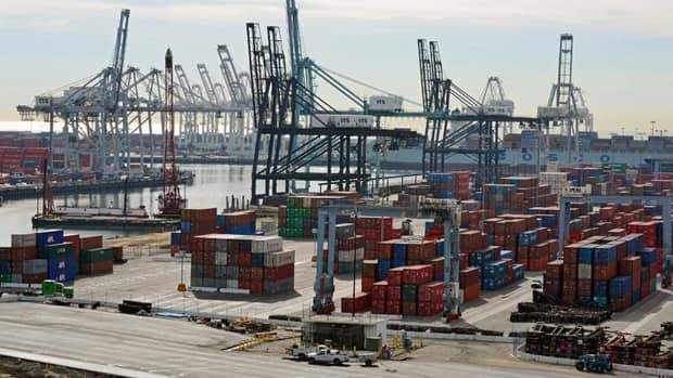 Canada's trade surplus with the rest of the world rose to $2.7 billion in December, according to Statistics Canada