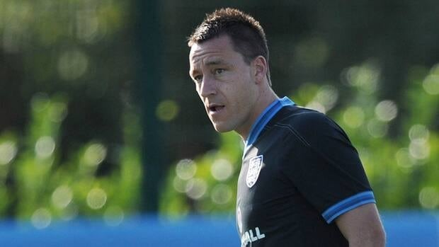 England defender John Terry during a training session at the London Colney training ground in Hertfordshire on September 3, 2012.