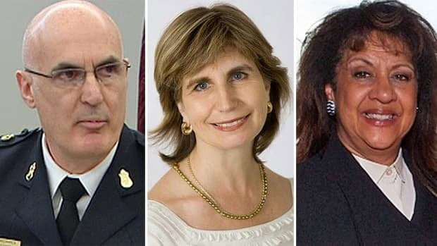 Our panel of experts include, from left, Chief Al Frederick, Nathalie Des Rosiers of the Canadian Civil Liberties Association and Madame Justice Micheline A. Rawlins.