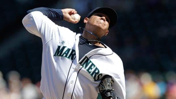 Seattle Mariners starting pitcher Felix Hernandez throws against the Tampa Bay Rays in the fifth inning of a baseball game of Wednesday's game.