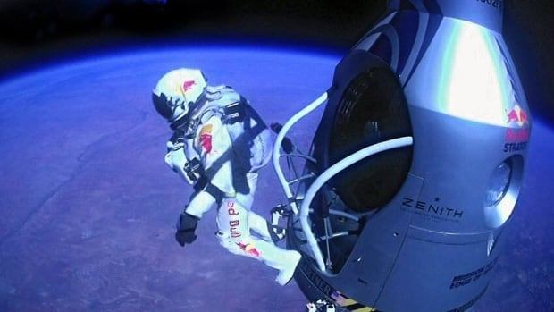 Pilot Felix Baumgartnerjumps out of his capsule during the final manned flight for Red Bull Stratos. Some 52 million watched YouTube's live stream of daredevil Baumgartner's free-fall jump from space, a viewership that far outpaced the 7.6 million who watched it on the Discovery Channel in the U.S.