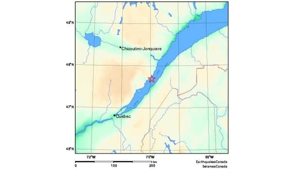 The 3.1 magnitude earthquake was recorded near La Malbaie, Que. Friday morning.