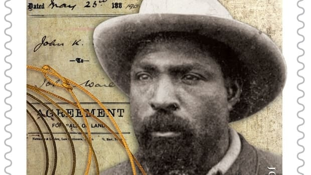 John Ware, an early pioneer of Alberta's cowboy culture, is featured on a stamp marking Black History Month.