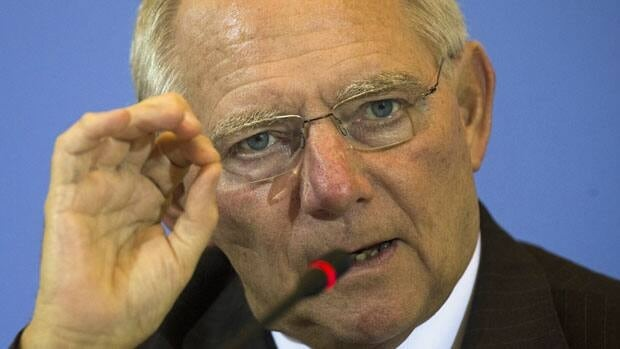 German Finance Minister Wolfgang Schaeuble, shown last month, says Greece can't receive the next installment of its bailout loan until the question of its debt sustainability is solved.