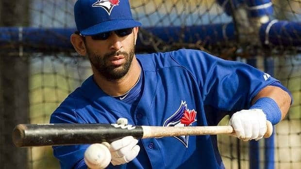 Canadian junior national team player Gareth Morgan is looking forward to learning the finer points of baseball from Blue Jays right-fielder Jose Bautista, shown here, next month.