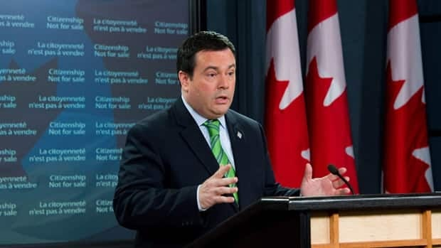 Immigration Minister Jason Kenney updated the Harper government's progress on cracking down on immigration fraud Monday.