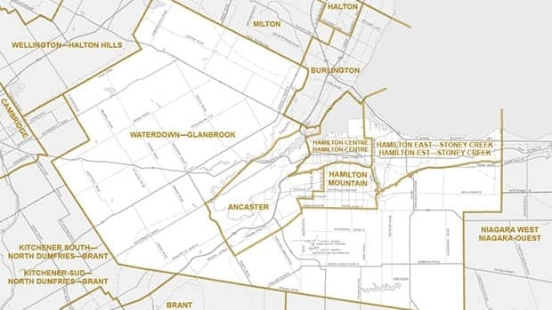 Proposed new Hamilton federal electorate boundaries.