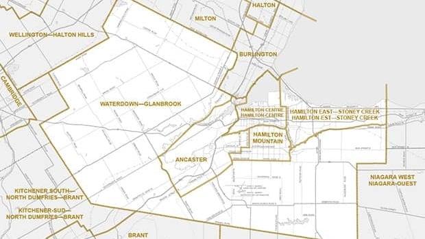 Proposed new Hamilton federal electorate boundaries.