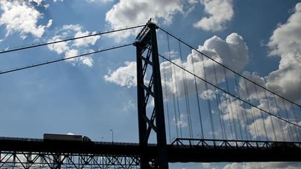 Right now, cyclists can't ride over the Ambassador Bridge or through the Detroit-Windsor Tunnel.