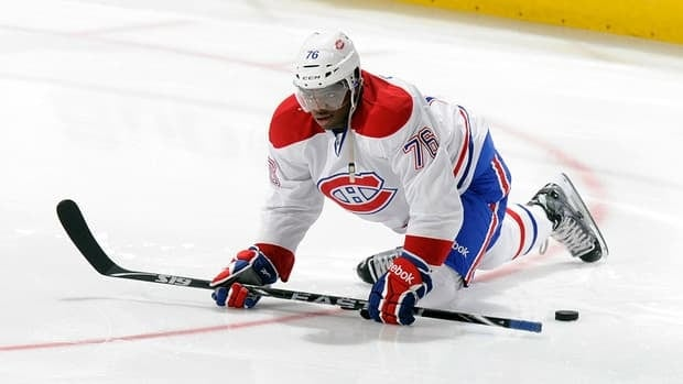 Canadiens defenceman P.K. Subban could be out two weeks with a knee injury he sustained during an exhibition game at the world hockey championship.
