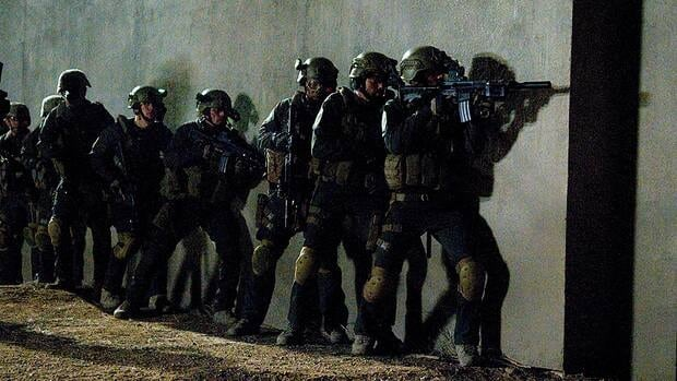 The TV film SEAL Team Six: The Raid on Osama bin Laden mixes interviews, archival footage and scenes of actors portraying the soldiers who raided the compound and killed Osama bin Laden.