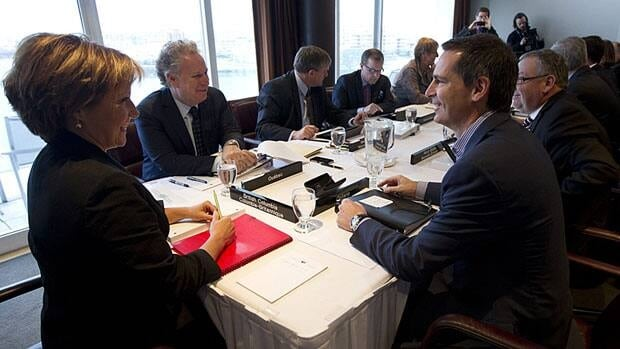 Premiers meeting in Victoria Monday want more discussion with the federal government on health-care funding.
