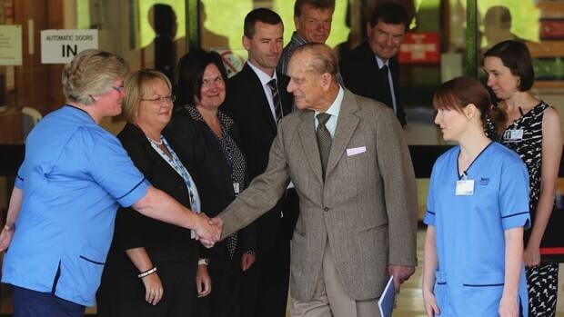 Prince Philip thanks hospital staff as he leaves Aberdeen Royal Infirmary in Aberdeen, Scotland on Monday after five days of treatment for a bladder infection.
