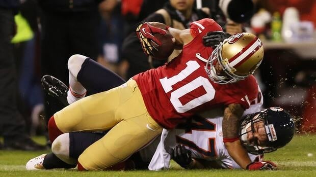 San Francisco 49ers return man Kyle Williams says he'll miss the rest of the season with a torn ligament in his knee.