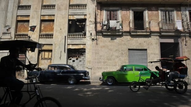 A pedicab transports passengers along a street in Havana last February. The United Nations General Assembly voted Tuesday, for the 21st year in a row, to condemn the U.S. embargo against Cuba.